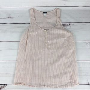 J Crew Pale Pink lightweight Tank Top   H9